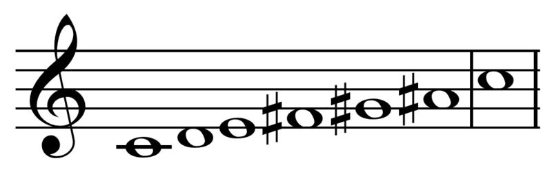 whole tone C