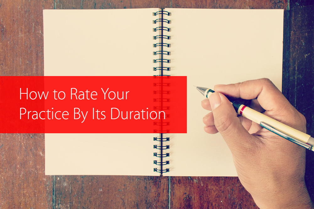 Post image for How to Rate Your Practice By Its Duration