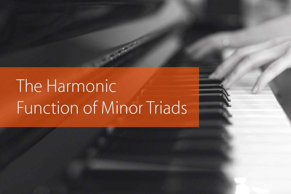 harmonic function of minor triads