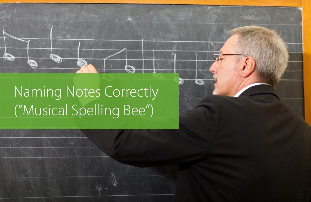 naming notes correctly