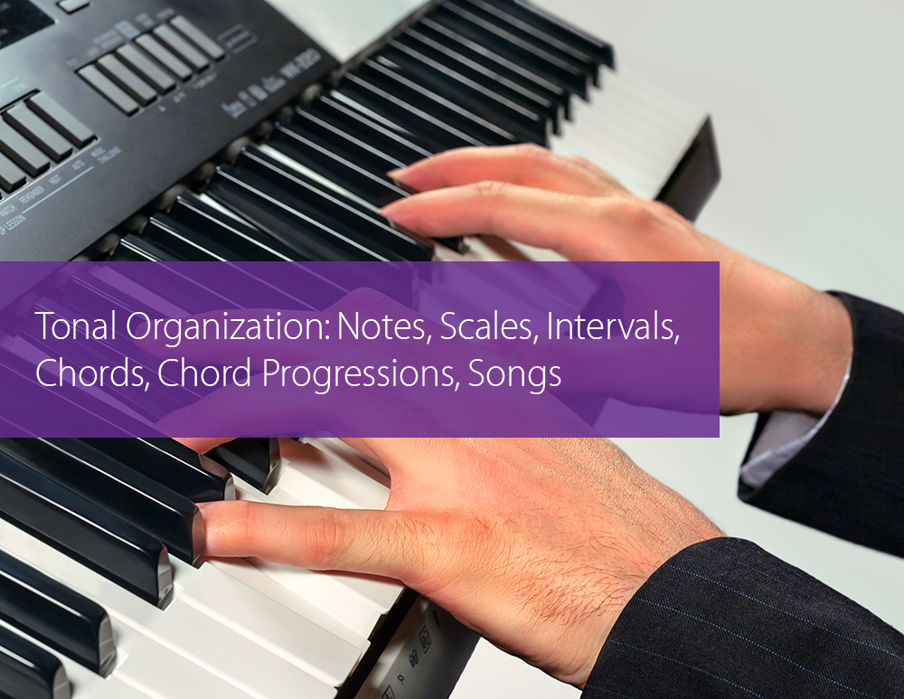 Post image for Tonal Organization: Notes, Scales, Intervals, Chords, Chord Progressions, Songs