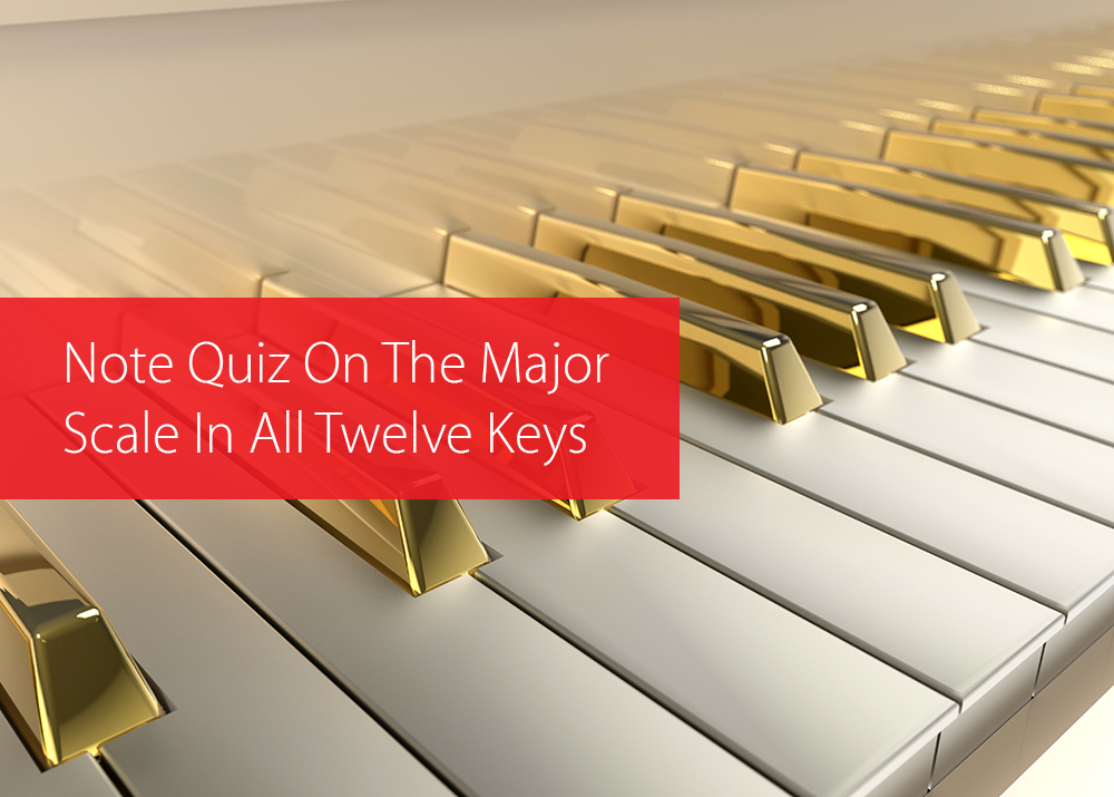Post image for Note Quiz On The Major Scale In All Twelve Keys